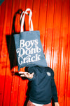 Tote Bag Boys Don't Crack Azul - Crack Kids Lisboa