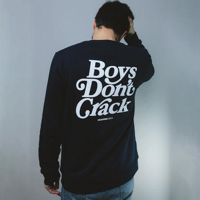 Crewneck Boys Don't Crack Azul - Crack Kids Lisboa