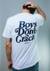 Tshirt Boys Don't Crack Branca - Crack Kids Lisboa