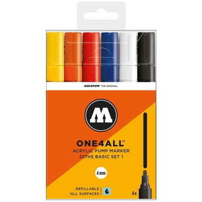 Molotow One 4 All 227HS 6x marker set Basic 1 - Crack Kids Lisboa