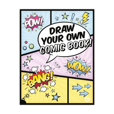 Draw Your Own Comic Book! Urban Media Colouring Book - Crack Kids Lisboa