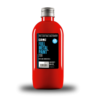 Grog Full Metal Paint Ferrari Red 200ml - Crack Kids Lisboa
