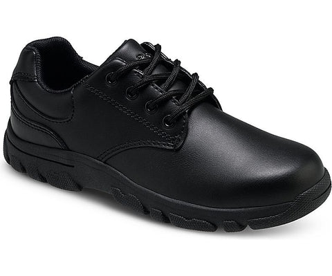 Black Chad Oxford Rubuck Youth Wide Medium Leather Sneaker Dress Shoe