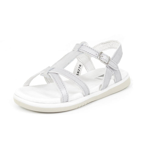 Bobux: Kid+Pixie Sandal Little Kid/Big Kid in Silver + Misty Silver