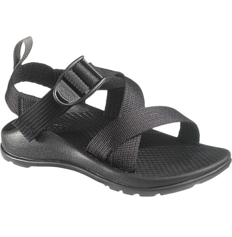 Chaco Kids Z/1 Ecotread waterproof sandal in black