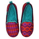 Chooze Women's Snooze slipper in red, purple and orange