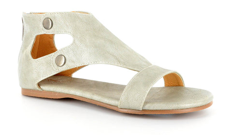 Corky's Amelia sandal in Silver and White