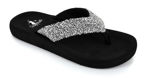 Corkys Windsor Flip Flop in Silver