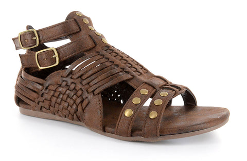 35a07283909537 Esperanza Woven Sandal by Corkys in Chocolate Distressed for Women and Big  Girls ...