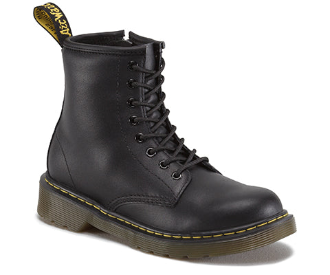 Dr. Marten Kids Junior Delaney Unisex Black 8 Eyelet Boot