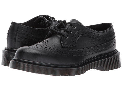 Dr Marten 3989 J Child Little Kid Oxford Dress Shoes Black Brogue Style Lace Up