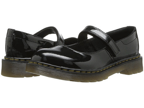 Dr Marten Maccy Patent Leather Shiny Black Mary Jane Child Youth Little Kid Big Kid