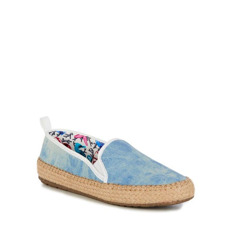 Gum Slip On by Emu Australia in Light Denim Canvas for Women and Big Girls