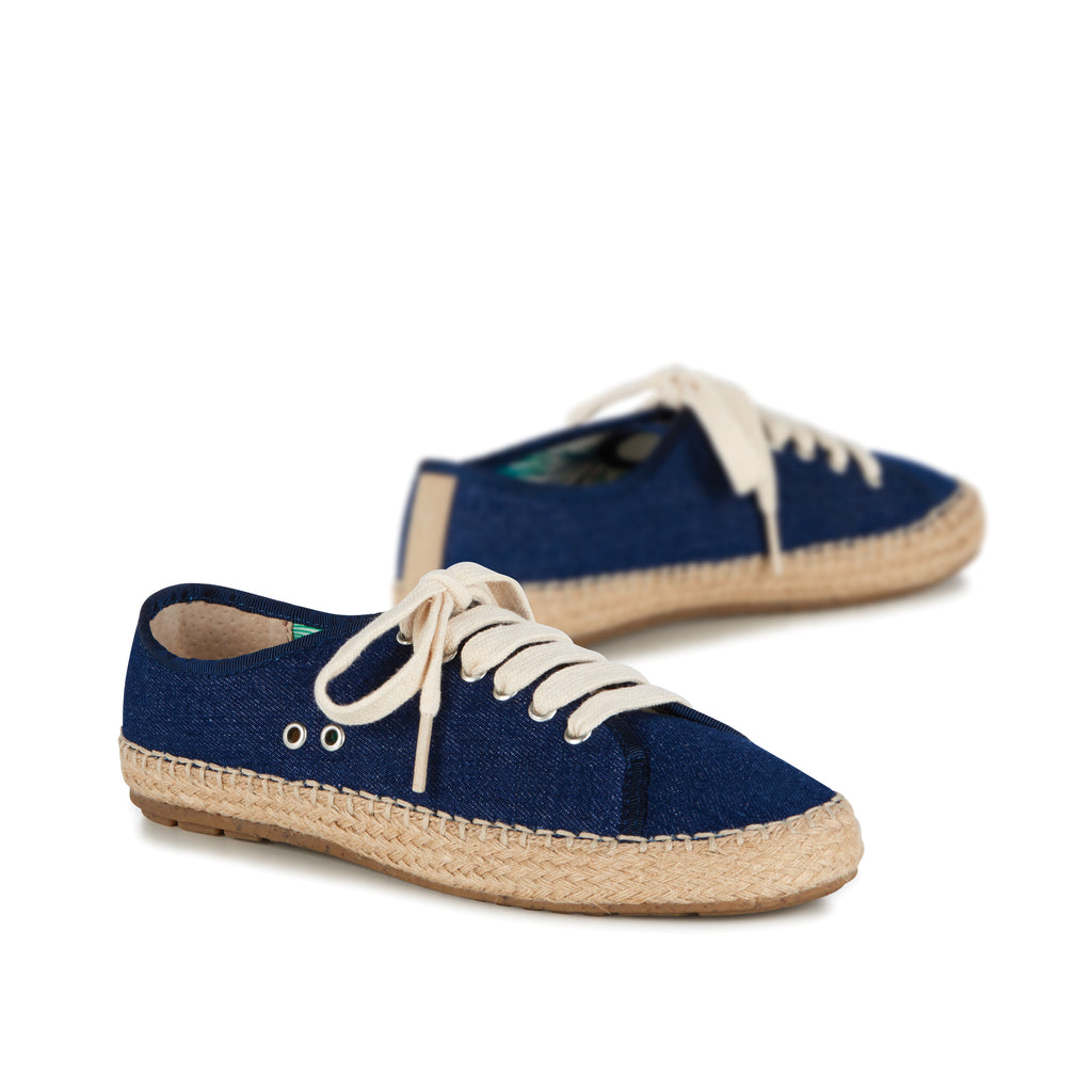 Agonis Sneaker by Emu Australia in Dark Denim Canvas for Women and Big Girls