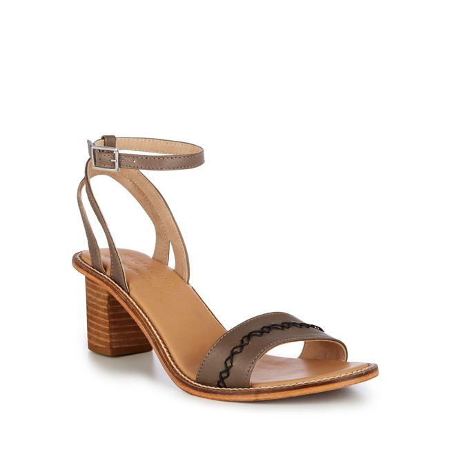 Emu Shana Stacked Heel Women's Sandal in Fossil Brown