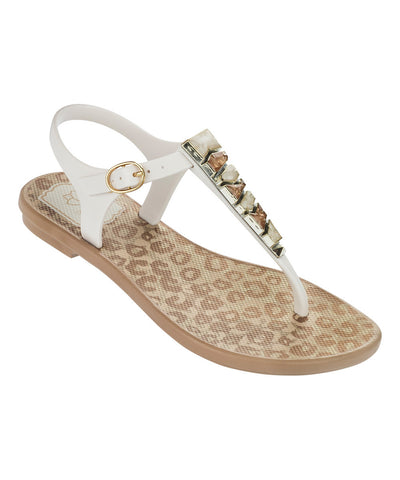 Grendha Jewel Kids Sandal Beige/White