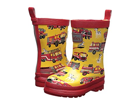 Fire Trucks Rain Boots by Hatley in Yellow and Red For Infants and Toddlers