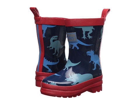 Hatley Lots of Dinos Red and Blue Rainboots Boy Toddler Child