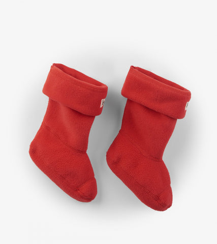 Hatley Toddler Child Fleece Lined Rain Boot Socks Red