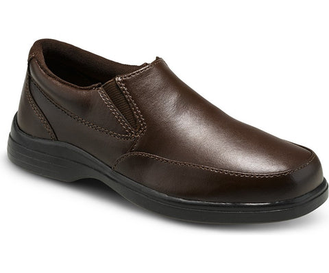 Shane Brown Leather Boys Slip On Dress Shoe by Hush Pupppies