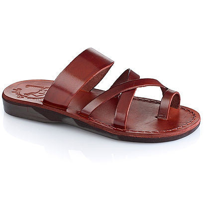 Jerusalem Sandals The Good Shepherd brown slip on sandal