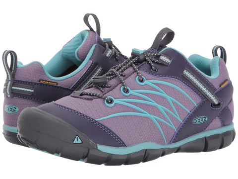 Keen: Kids Chandler CNX Waterproof Little Kid/Big Kid (Montana Grape/Aqua Haze)