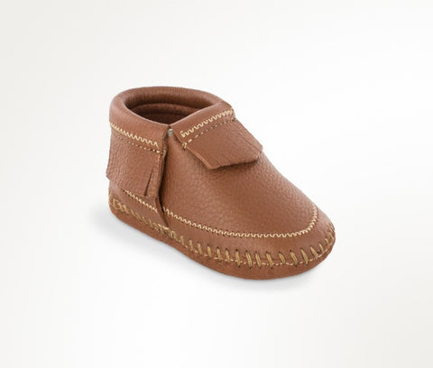 Minnetonka Infants Riley Baby Bootie Deerskin Carmel