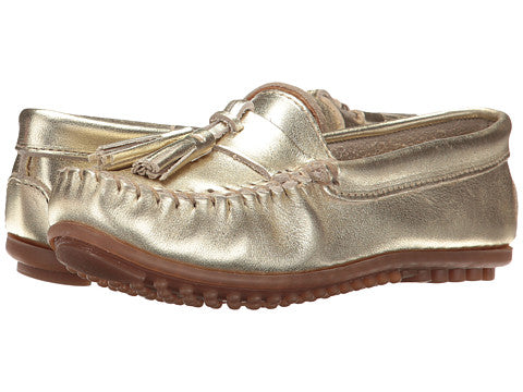 Minnetonka Womens Grace Moc Gold Leather