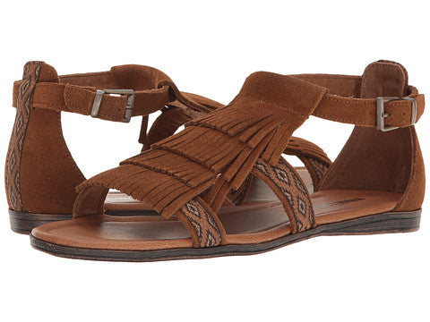 Minnetonka Womens Maui Brown Sandal