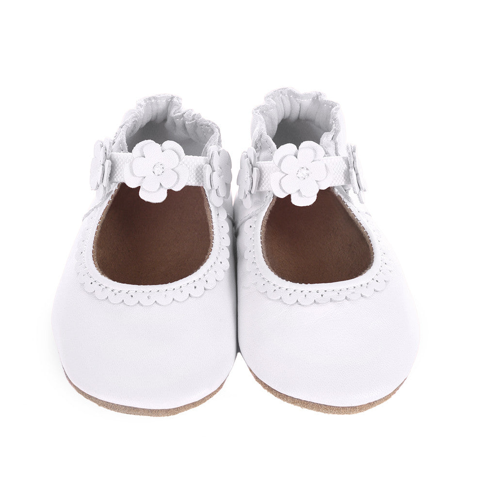 Robeez Claire Mary Jane Soft Soles in White