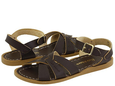 Salt Water sandal original waterproof leather sandal in brown