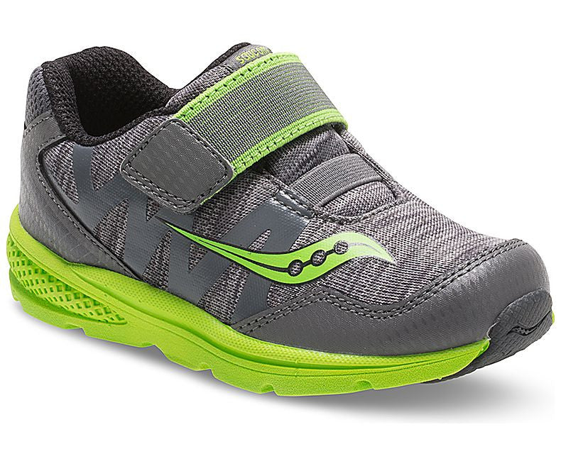 Saucony Toddler Baby Ride Pro in Grey and Green
