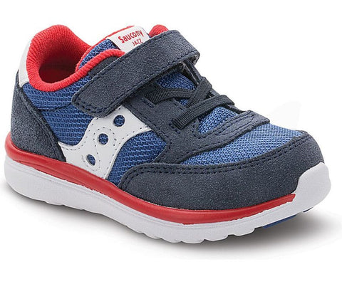 Boys Baby Jazz Lite by Soucony in Navy and Red for Infants and Toddlers