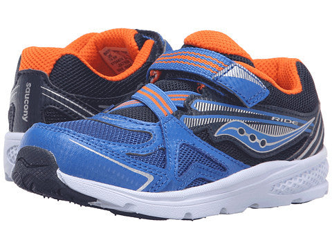 Saucony Kids Baby Ride Blue Orange Toddler Little Kid Sneaker