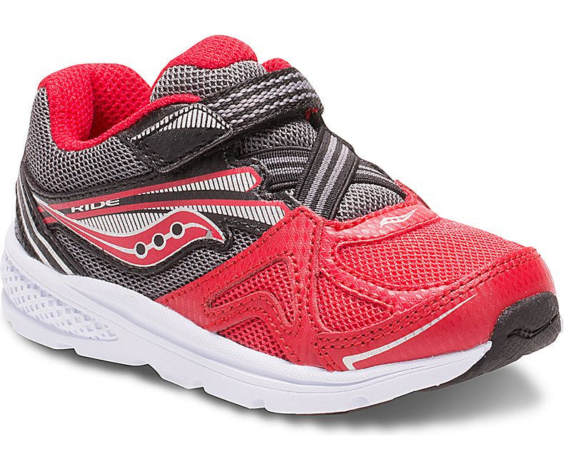 Saucony Kids Baby Ride Red and Black