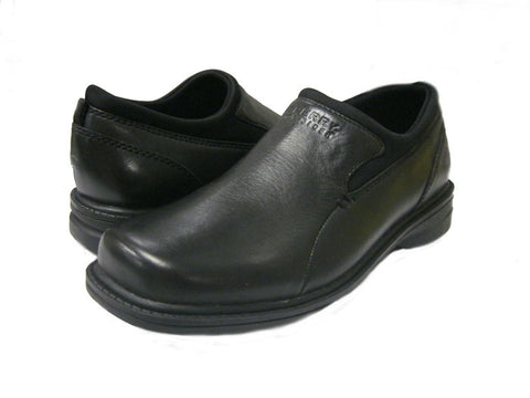 Sperry Topsider Black leather slip on dress shoe for boys