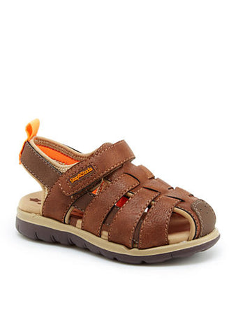 Step & Stride Cromac Fisherman Sandal Brown Toddler Summer Sandal