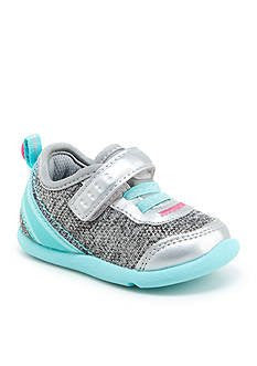 Step And Stride Inche-P Sneaker Silver Blue Infant Toddler Machine Washable