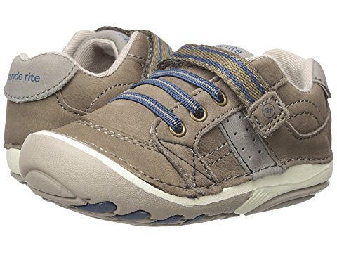Stride Rite Artie Leather Truffle Infant Toddler First Walker Boy Shoes
