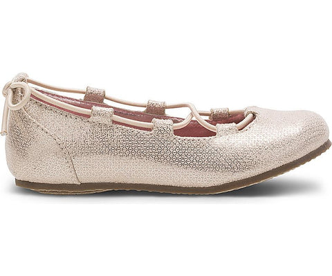 Julia Flat by Stride Rite in Champagne for Little Kids and Big Kids