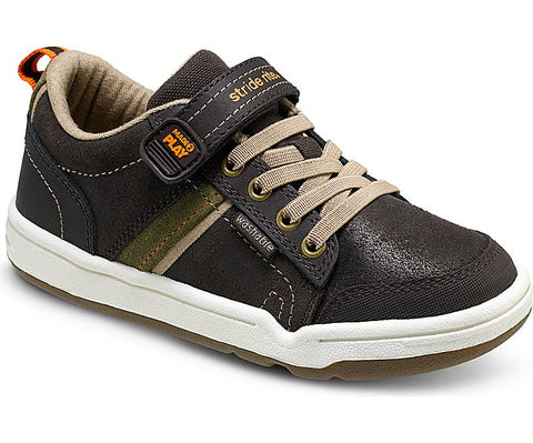 Made2Play Kaleb Brown Leather Youth Sneaker by Stride Rite