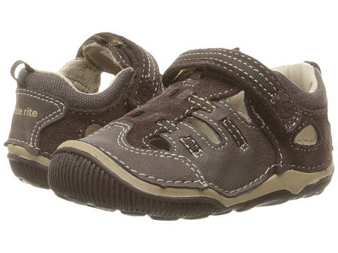 SRT Reggie Fisherman Sandal by Stride Rite in Brown Leather For Toddlers and Little Kids