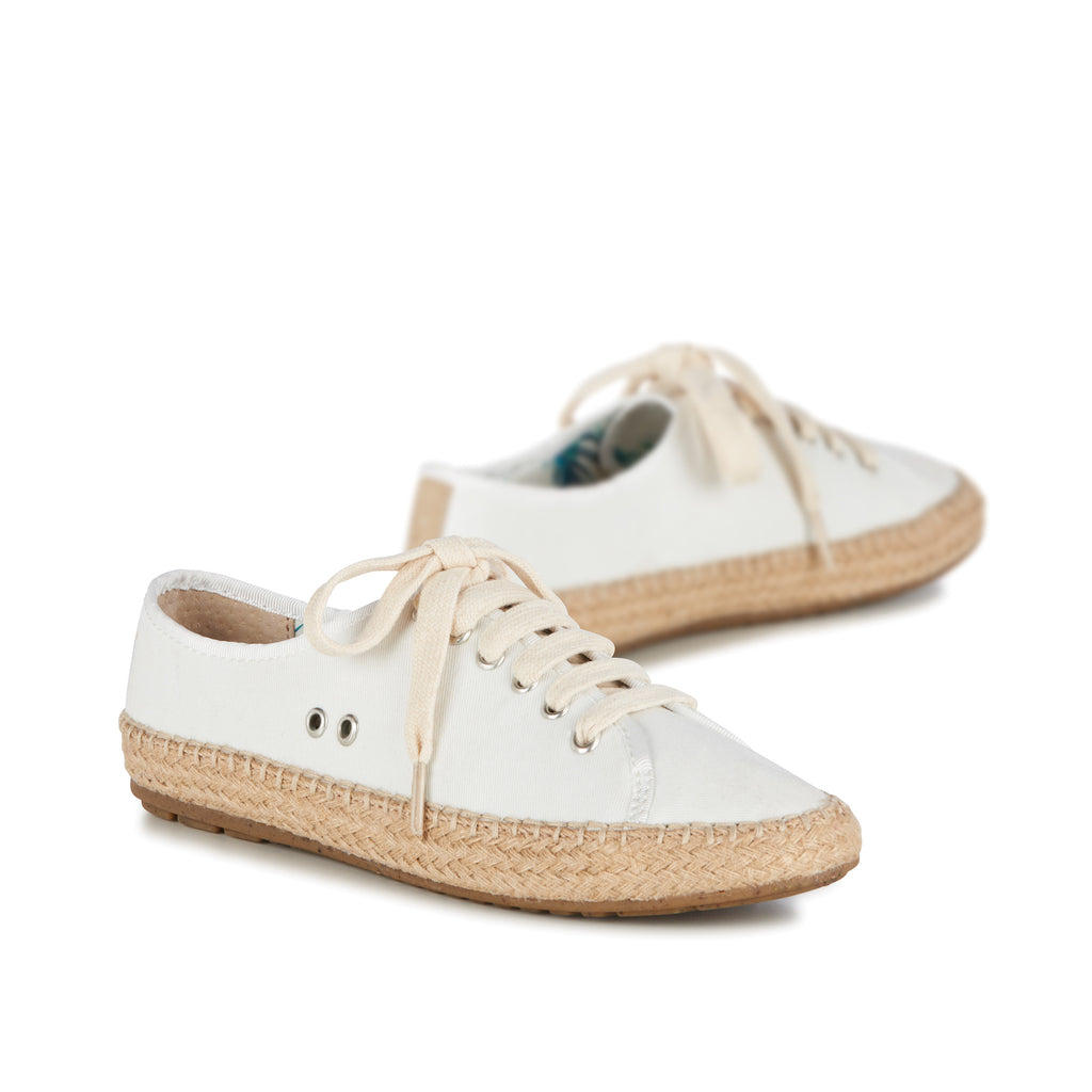 Agonis Sneaker by Emu Australia in Coconut Canvas for Women and Big Girls