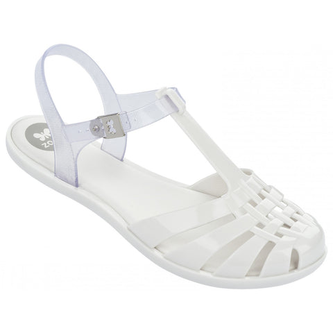 Dream Kids Zaxy Jellie Sandal in White and Clear for Little Kids and Big Kids