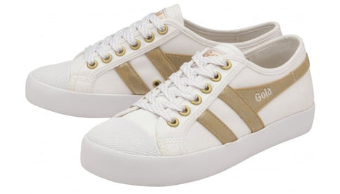 Gola: Coaster Mirror Trainer Womens/Big Kids (White/Gold)