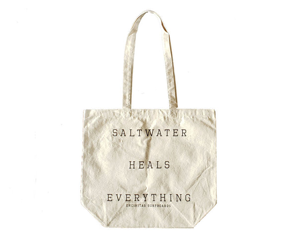 Saltwater Heals Cotton Canvas Tote