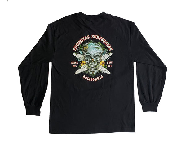 Crossed Surf Skull Long Sleeve
