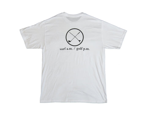 Surf A.M. / Golf P.M. Circle Logo Tee