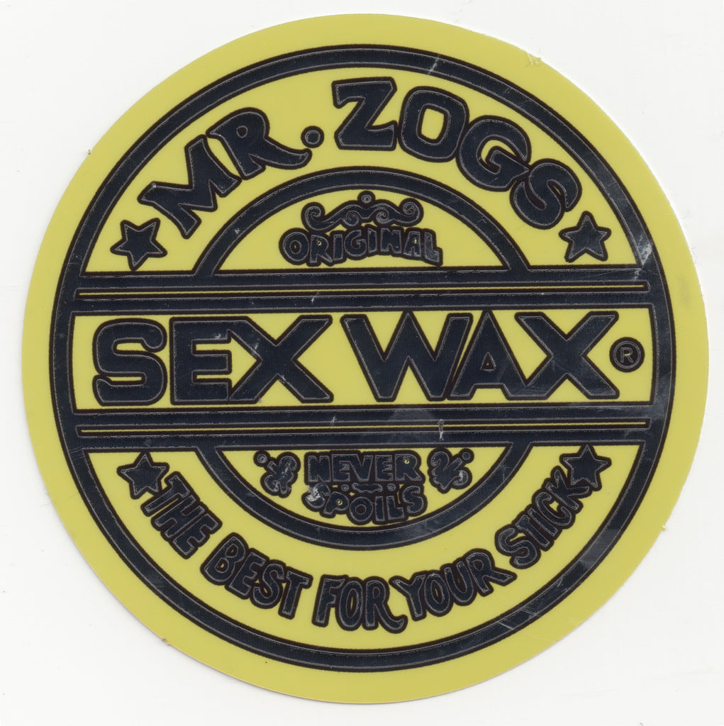 Sex Wax Sticker Silver