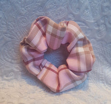 Load image into Gallery viewer, Pink Tartan Scrunchie